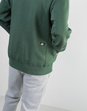 Nike SB Icon Essential Pullover Hoodie - Midnight Green/White
