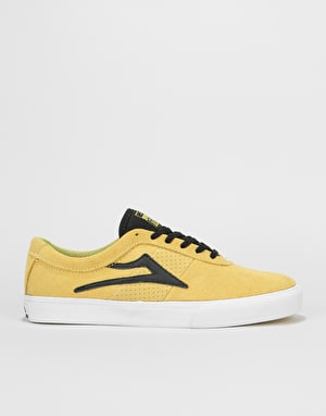 Lakai Sheffield Skate Shoes - Dusty Yellow/Black Suede