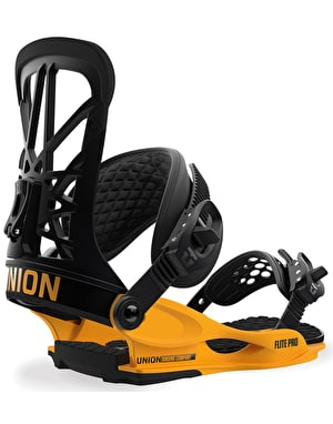 Union Flite Pro 2019 Snowboard Bindings - Black-Yellow