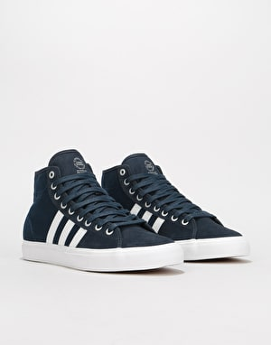 Adidas Matchcourt High RX Skate Shoes - Night Navy/White/Collegiate Navy