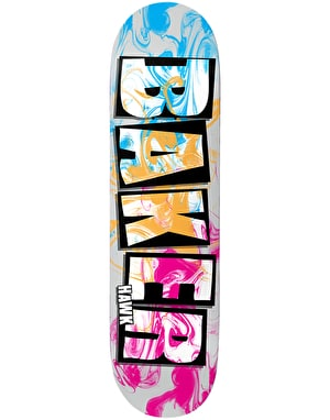 Baker Hawk Brand Name Ink Drops Skateboard Deck - 7.75