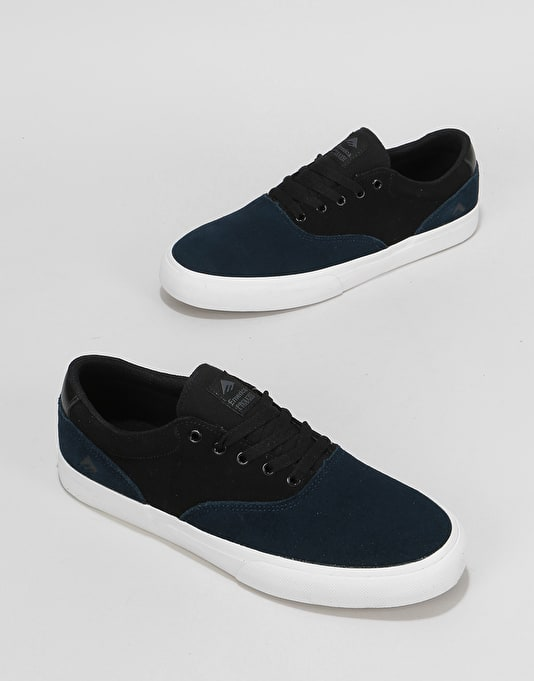 Emerica Provost Slim Vulc Skate Shoes - Blue/Black/White