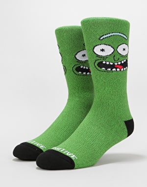 Primitive x Rick & Morty Pickle Rick Socks - Green