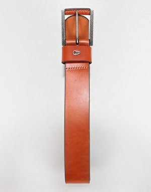 Nixon Americana Leather Belt - Saddle