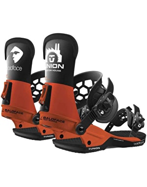 Union x Baldface Custom House 2019 Snowboard Bindings - Orange/Black