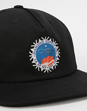 Diamond Supply Co. Winter Seal Snapback Cap - Black