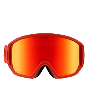 Anon Relapse MFI 2019 Snowboard Goggles - Red/Sonar Red