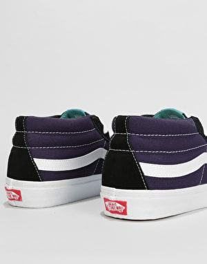 Vans Sk8-Mid Skate Shoes - (Retro Skate) Black/Mysterioso