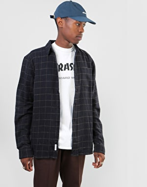 Bellfield Sakai Check L/S Flannel Shirt - Black