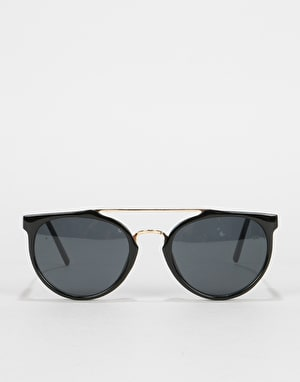 Glassy Sunhater Chuck Sunglasses - Black/Gold