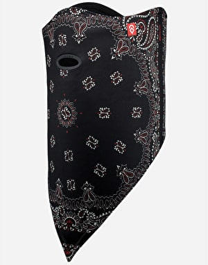 Airhole Standard 2 Layer Facemask - Black Paisley