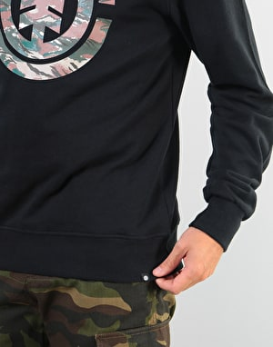 Element Logo Fill Crew - Flint Black