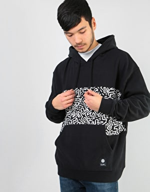 Element x Keith Haring KH Panel Pop Pullover Hoodie - Flint Black