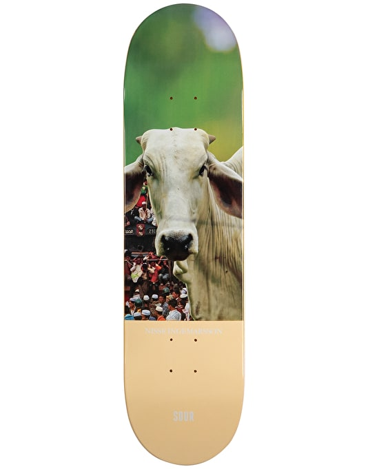 Sour Nisse Cow Skateboard Deck -  8.18""