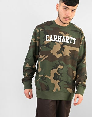 Carhartt College Sweatshirt - Camo Laurel/White