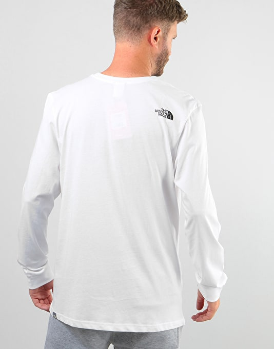 The North Face L/S Simple Dome T-Shirt - TNF White