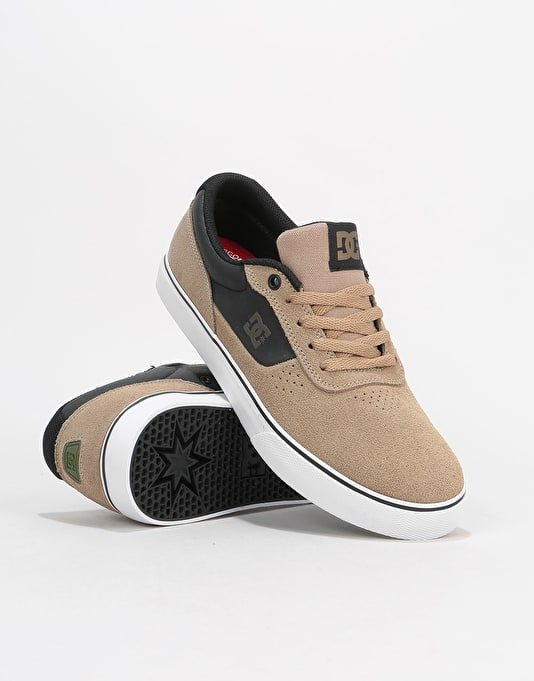 DC Switch S Skate Shoes - Timber