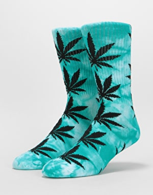 HUF Plantlife Tie Dye Crew Socks - Jade