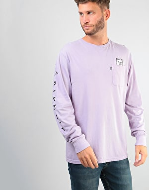 RIPNDIP Lord Nermal Pocket L/S T-Shirt - Lavender
