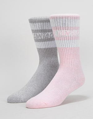 Santa Cruz Womens Strip Logo 2 Pack Socks - Assorted