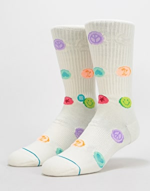 Stance Lets Roll Classic Crew Socks - White