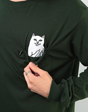 RIPNDIP Lord Nermal Pocket L/S T-Shirt - Hunter Green