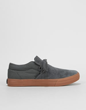 Supra Cuba Skate Shoes - Dark Grey/Gum