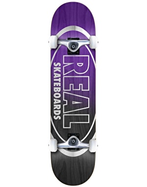 Real Metallic Oval Fades Complete Skateboard - 8