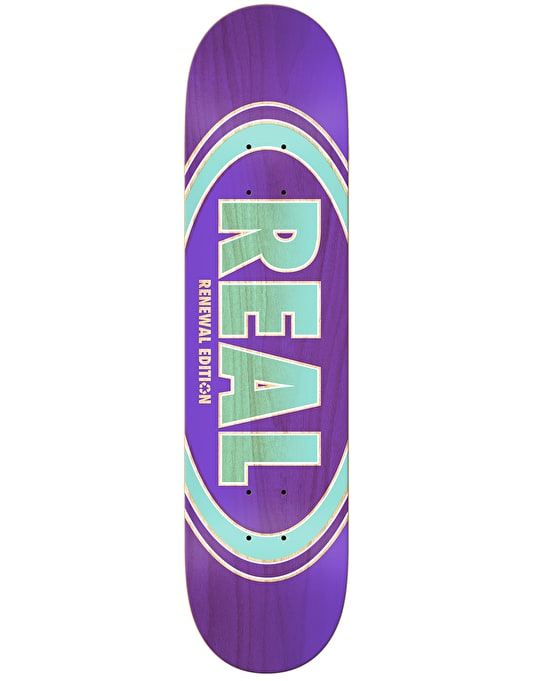 Real Oval Duo Fades Skateboard Deck - 7.56""