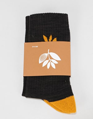 Magenta Socks - Black/Orange