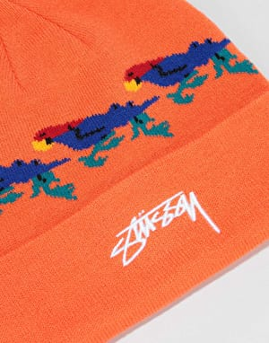 Stüssy Parrot Cuff Beanie - Orange