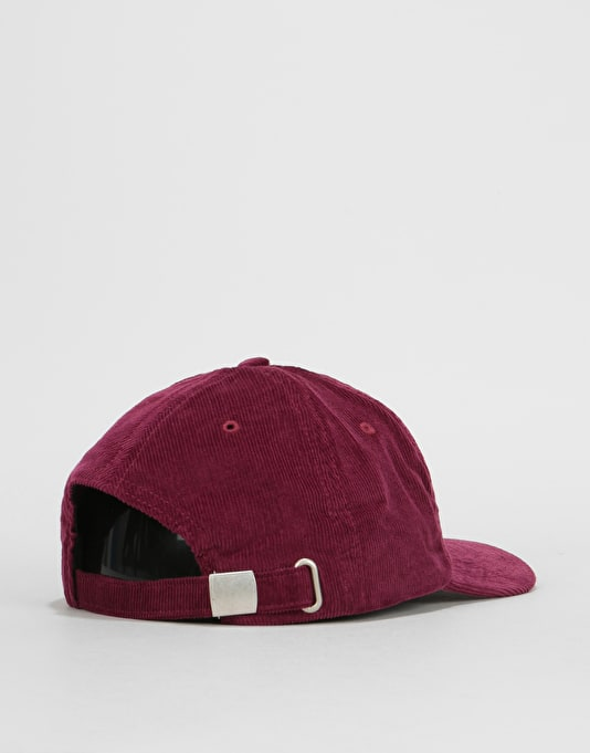 Route One Vintage Cord Dad Cap - Burgundy