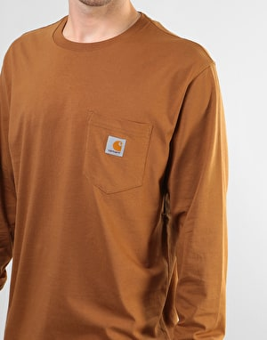 Carhartt L/S Pocket T-Shirt - Hamilton Brown