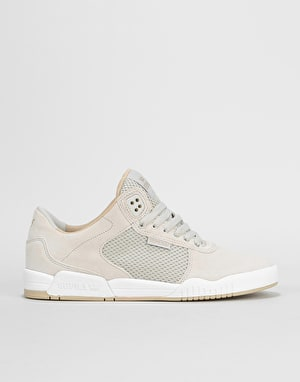 Supra Ellington Skate Shoes - Light Grey/White