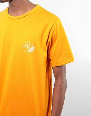 Magenta Plant Outline T-Shirt - Orange