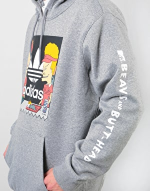 Adidas x Beavis and Butt-Head Pullover Hoodie - Core Heather/Multicolo
