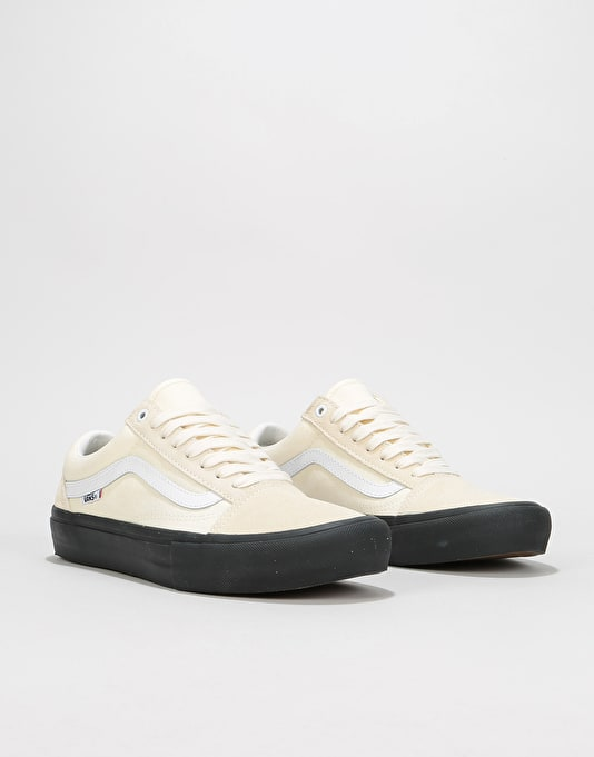 Vans Old Skool Pro Skate Shoes - Classic White/Black