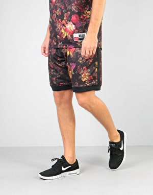 Nike SB Dri-Fit Floral Mesh Shorts - Black/White