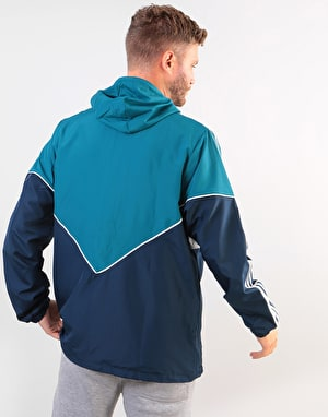 Adidas Premiere Windbreaker Jacket - Real Teal/Collegiate Navy/White