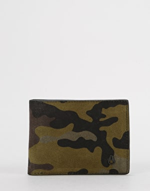 Nixon Cape SE Bi-Fold Leather Wallet - Black/Camo/Volt