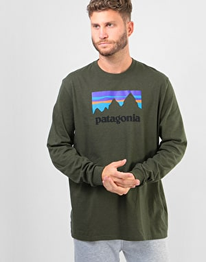 Patagonia Shop Sticker L/S T-Shirt - Sediment