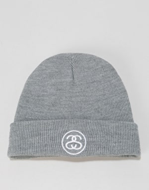 Stüssy SS Link Cuff Beanie - Grey Heather