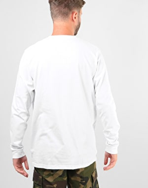 Patagonia Shop Sticker L/S T-Shirt - White