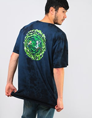 Primitive x Rick & Morty Nuevo Portal Washed T-Shirt - Navy Wash