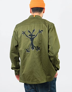 The Hundreds x Looney Tunes Drab L/S Woven Shirt - Olive