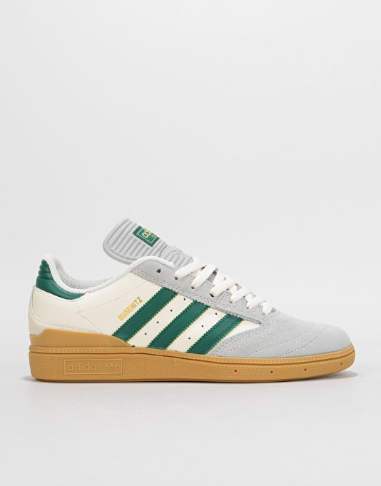 Adidas Busenitz Pro Skate Shoes - Grey Collegiate Green Gum  6f6f95daacfa