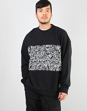 Element x Keith Haring KH Panel Crew Fleece - Flint Black
