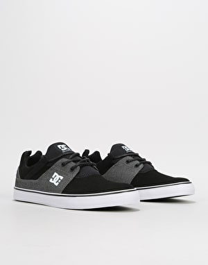 DC Heathrow Vulc Skate Shoes - Black/Black/Dk Grey