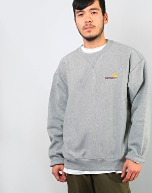 Carhartt American Script Sweatshirt - Grey Heather