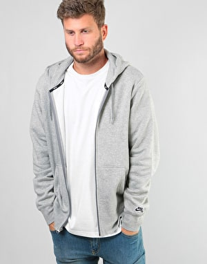 Nike SB Icon Essential FZ Hoodie - Dk Grey Heather/Black